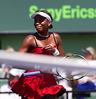Venus WILLIAMS (USA) against Roberta VINCI (ITA) in the second round of the women's singles. Williams beat Vinci 6-1 6-4..International Tennis - 2010 ATP World Tour - Sony Ericsson Open - Crandon Park Tennis Center - Key Biscayne - Miami - Florida - USA - Sat 27 Mar 2010..© Frey - Amn Images, Level 1, Barry House, 20-22 Worple Road, London, SW19 4DH, UK .Tel - +44 20 8947 0100.Fax -+44 20 8947 0117