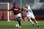 22 September 2016: Notre Dame's Jennifer Westendorf (10) and NC State's Ella Bonner (13). The North Carolina State University Wolfpack hosted the University of Notre Dame Fighting Irish at Dail Soccer Field in Raleigh, North Carolina in a 2016 NCAA Division I Women's Soccer match. Notre Dame won the game 1-0.