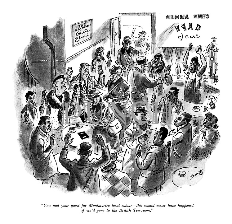 Post War Tourism-France cartoons from Punch magazine | PUNCH ...