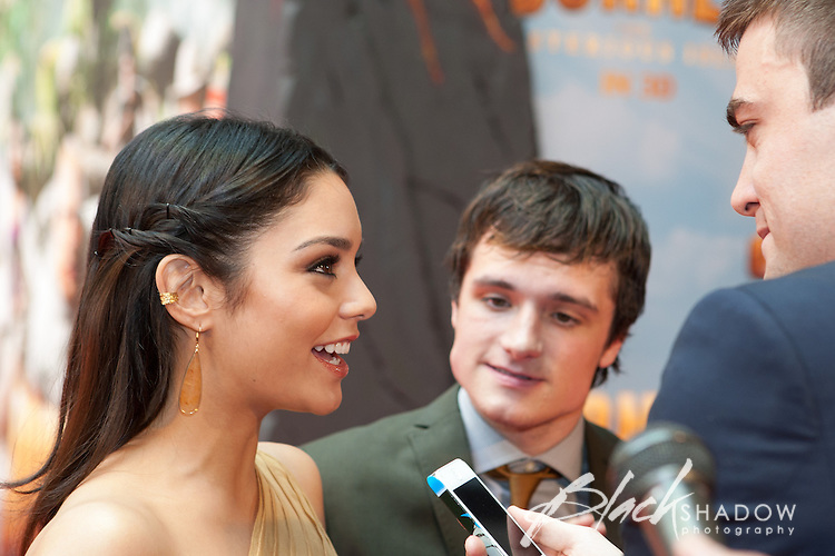 Vanessa Hudgens and Josh Hutcherson at the World Premiere of Journey 2, Jam Factory cinemas, Melbourne, Australia, 15 January 2012
