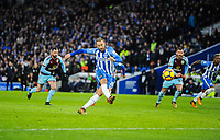 Glenn Murray of Brighton & Hove Albion (17) misses a penalty  during the EPL - Premier League match between Brighton and Hove Albion and Burnley at the American Express Community Stadium, Brighton and Hove, England on 16 December 2017. Photo by Edward Thomas / PRiME Media Images.