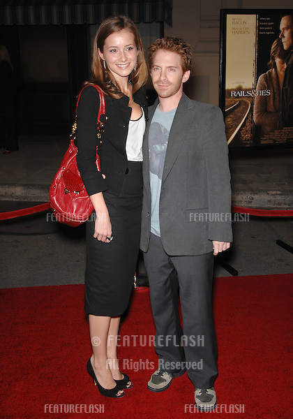 "Seth Green & Candace Bailey at the Los Angeles premiere of ""Rails & Ties"" at Warner Bros. Studios, Burbank, CA..October 24, 2007  Los Angeles, CA.Picture: Paul Smith / Featureflash"