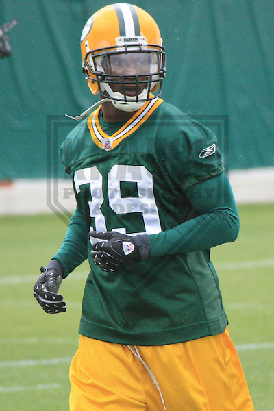 GREEN BAY - JUNE 2010: Trevor Ford (39) of the Green Bay Packers during an OTA on June 2, 2010 at Ray Nitschke Field in Green Bay, Wisconsin. (Photo by Brad Krause)