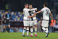 Parma Calcio 1913 celebrate at the end of the match<br /> Napoli 14-12-2019 Stadio San Paolo <br /> Football Serie A 2019/2020 <br /> SSC Napoli - Parma Calcio 1913<br /> Photo Cesare Purini / Insidefoto