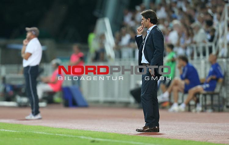22.08.2013., Stadium Kantrida, Rijeka, Croatia - UEFA European League 4th qualifying round, HNK Rijeka - VfB Stuttgart. Coach Bruno Labbadia. <br /> <br /> Foto &copy;  nph / PIXSELL / Igor Kralj
