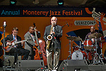 Musicians perfoming outdoors at the 52nd Annual Monterey Jazz Festival, Monterey, California