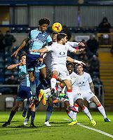 Sido Jombati of Wycombe Wanderers during the Sky Bet League 2 match between Wycombe Wanderers and Luton Town at Adams Park, High Wycombe, England on the 21st January 2017. Photo by Liam McAvoy.