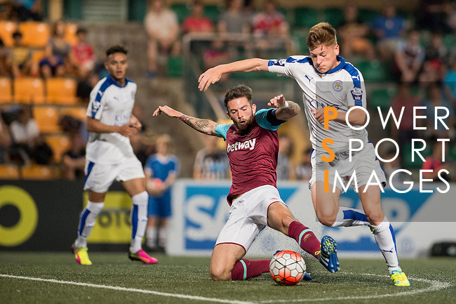 West Ham United vs Leicester City during the Main of the HKFC Citi Soccer Sevens on 21 May 2016 in the Hong Kong Footbal Club, Hong Kong, China. Photo by Li Man Yuen / Power Sport Images