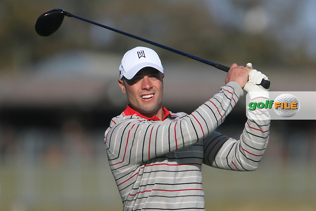 South Africa's Olympic and Paralympic runner Oscar Pistorius on Wednesday's Practise Day at the Alfred Dunhill Links Championship, Old Course St. Andrews, Carnoustie and Kingsbarns, Scotland...(Photo Jenny Matthews/www.golffile.ie)