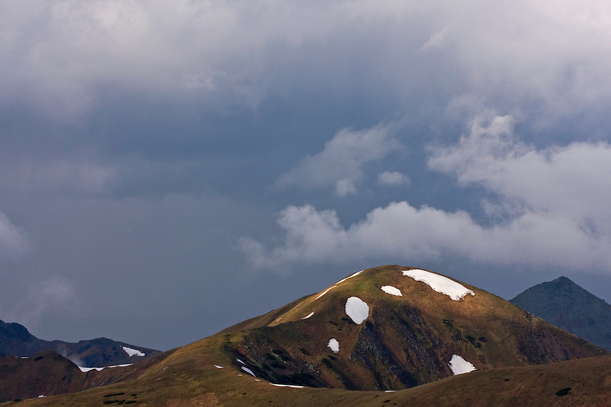 Cloudy sky and Mount Vel'kà kopa (2052 m asl) in the Western Tatras, Slovakia. June 2009. Mission: Ticha