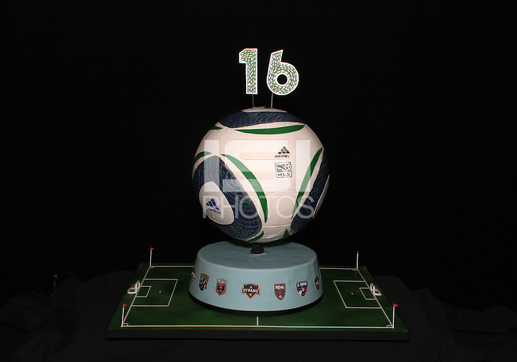 Anniversary cake at the 2011 MLS Superdraft, in Baltimore, Maryland on January 13, 2010.