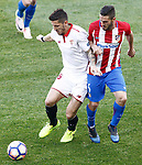 Atletico de Madrid's Koke Resurrecccion (r) and Sevilla FC's Stevan Jovetic during La Liga match. March 19,2017. (ALTERPHOTOS/Acero)