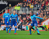 Danny Welbeck of Arsenal holds off Dan Gosling of AFC Bournemouth during AFC Bournemouth vs Arsenal, Premier League Football at the Vitality Stadium on 14th January 2018