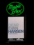Theatre Marquee for the Broadway Opening Night Performance of 'Dear Evan Hansen'  at The Music Box Theatre on December 3, 2016 in New York City.