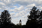0809-01 GCS September .0809-01 GCS 014..The Hinckley Building (GBHB) and the Administration Building (ASB).  General Campus Scenics (GCS) around campus...September 26, 2008..Photo by: Mark Philbrick/BYU..Copyright BYU PHOTO 2008.All Rights Reserved.801-422-7322.photo@byu.edu..