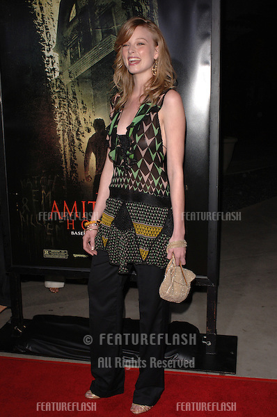 Actress RACHEL NICHOLS at the world premiere, in Hollywood, of her new movie The Amityville Horror..April 7, 2005 Los Angeles, CA..© 2005 Paul Smith / Featureflash
