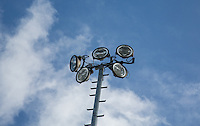 Floodlights during the International match between England U19 and Netherlands U19 at New Bucks Head, Telford, England on 1 September 2016. Photo by Andy Rowland.