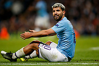 Sergio Aguero of Manchester City looks on in disbelief after being refused a penalty during the UEFA Champions League Group C match between Manchester City and Dinamo Zagreb at the Etihad Stadium on October 1st 2019 in Manchester, England. (Photo by Daniel Chesterton/phcimages.com)<br /> Foto PHC/Insidefoto <br /> ITALY ONLY