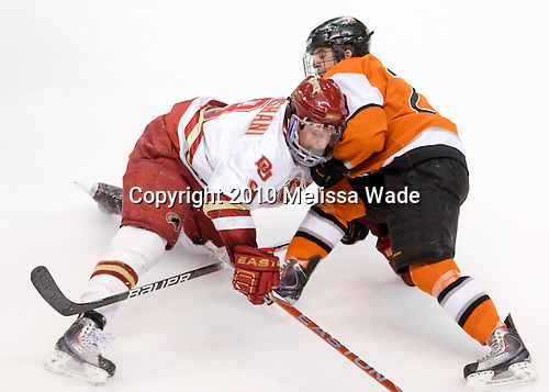 Rhett Rakhshani (Denver - 9), Andrew Favot (RIT - 28) - The Rochester Institute of Technology (RIT) Tigers defeated the Denver University Pioneers 2-1 on Friday, March 26, 2010, in their NCAA East Regional semi-final at the Times Union Center in Albany, New York.