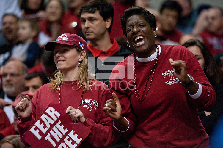 INDIANAPOLIS, IN - APRIL 3, 2011: Stanford Fans during the NCAA Final Four against Texas A&M at Conseco Fieldhouse  in Indianapolis, IN on April 1, 2011.