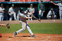 Dartmouth Big Green left fielder Ubaldo Lopez (26) bats during a game against the Bradley Braves on March 21, 2019 at Chain of Lakes Stadium in Winter Haven, Florida.  Bradley defeated Dartmouth 6-3.  (Mike Janes/Four Seam Images)