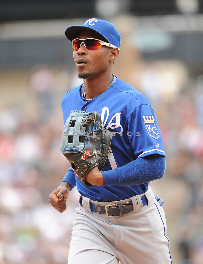 Kansas City Royals Jarrod Dyson (1) during a game against the Chicago White Sox on July 28, 2013 at US Cellular Field in Chicago, IL. The Royals beat the White Sox 4-2.