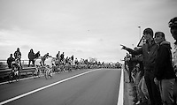 people are everywhere along the 259km route<br /> <br /> Ronde van Vlaanderen 2014