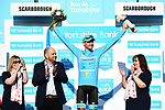 Magnus Cort Nielsen (DEN) Astana Pro Team retains the race lead at the end of Stage 3 of the Tour de Yorkshire 2018 running 181km from Richmond to Scarborough, England. 5th May 2018.<br /> Picture: ASO/Alex Broadway | Cyclefile<br /> <br /> <br /> All photos usage must carry mandatory copyright credit (© Cyclefile | ASO/Alex Broadway)