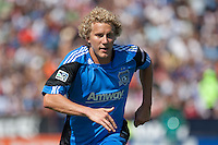 San Jose Earthquakes forward Steven Lenhart (24) chases down the ball. The San Jose Earthquakes tied the Los Angeles Galaxy 0-0 at Buck Shaw Stadium in Santa Clara, California on June 25th, 2011.