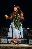 Jackie Haunani Basco, a hula dancer at the Merrie Monarch festival; Pukalani hula halau