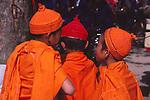 China, Dai novice monks in Xishuangbanna Dai Autonomous Prefecture, Yunnan Province
