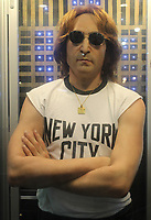 BNPS.co.uk (01202 558833)<br /> AdamPartridge/BNPS<br /> <br /> A  life-sized silicone figure of John Lennon wearing a 'New York City' t-shirt<br /> <br /> A vast collection of 'weird and wonderful' memorabilia from a music venue that hosted early Beatles gigs has emerged for sale for close to £50,000.<br /> <br /> Lathom Hall in Liverpool was one of the best known clubs on the Merseybeat music scene in the late 1950s and early 1960s.<br /> <br /> Among their regular bands were the Beatles, although at that time they were known as the Silver Beets.<br /> <br /> Since those days the hall has adapted and is now an entertainment venue crammed full of pop culture memorabilia.