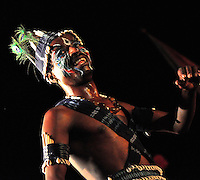 The Siddi Goma tribe has its origins in Africa and have settled in Gujarat, Western India. The tribal dance inlcudes feats such as throwing up a coconut upto 10 metres high and then ensuring that it falls on the head of the lead dancer, thus striking the coconut open with the impact.