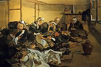 Europe/France/Bretagne/29/Finistère/Quimper:  Brodeuses dans un atelier aquarelle de Lucien Simon 1910 - Musée Départemental