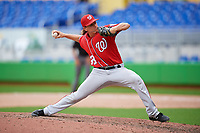 Washington Nationals pitcher Andrew Istler (33) delivers a pitch during a Florida Instructional League game against the Miami Marlins on September 26, 2018 at the Marlins Park in Miami, Florida.  (Mike Janes/Four Seam Images)