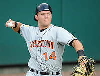 July 21, 2008: Catcher Travis Reagan (14) of the Hagerstown Suns, Class A affiliate of the Washington Nationals, in a game against the Greenville Drive at Fluor Field at the West End in Greenville, S.C. Photo by:  Tom Priddy/Four Seam Images