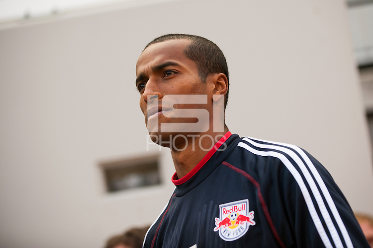 Roy Miller (7) of the New York Red Bulls. The New York Red Bulls defeated the Philadelphia Union 2-1 during a Major League Soccer (MLS) match at Red Bull Arena in Harrison, NJ, on March 30, 2013.