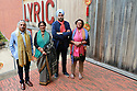 Gathering for the JLF Belfast (from left) Sanjoy Roy (festival producer), Navtej Sarna (writer),  Reba Som (writer) and Namita Gokhale (writer and festival co-director) at the Lyric Theater in Belfast, Wednesday, June 19th, 2019. (Photo by Paul McErlane for the Belfast Telegraph)
