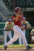 Anthony Vasquez of the USC Trojans during game against the  Western Carolina Catamounts at Dedeaux Field in Los Angeles,CA.  Photo by Larry Goren/Four Seam Images