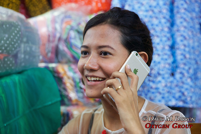 Merchant On Phone, Gyee Zai Market