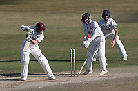 Steven Davies of Somerset is bowled out by Simon Harmer during Essex CCC vs Somerset CCC, Specsavers County Championship Division 1 Cricket at The Cloudfm County Ground on 28th June 2018
