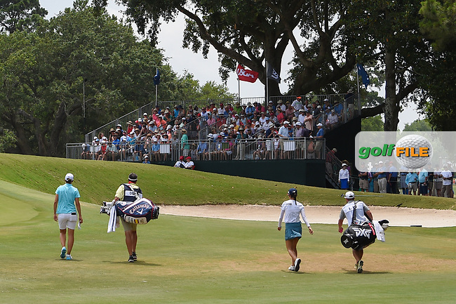 Carlota Ciganda (ESP) heads down 11 during round 2 of the 2019 US Women's Open, Charleston Country Club, Charleston, South Carolina,  USA. 5/31/2019.<br /> Picture: Golffile   Ken Murray<br /> <br /> All photo usage must carry mandatory copyright credit (© Golffile   Ken Murray)