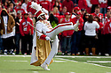 24 October 2009: Nebraska Drum Major leading the marching band on the field for pre-game festivities against Iowa State at Memorial Stadium, Lincoln, Nebraska. Iowa State defeats Nebraska 9 to 7.