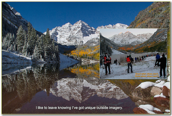 A perfect autumn morning, but not necessarily a one of a kind image. Year round tours in Boulder Colorado.