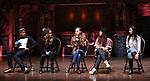 Bryan Terrell Clark, Elizabeth Judd, Eliza Ohman, Sasha Hollinger and Lauren Boyd during their #EduHam Q & Aon January 31, 2018 at the Richard Rodgers Theatre in New York City.