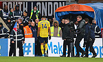 Arsenal's Pierre-Emerick Aubameyang leaves the pitch after being sent off during the Premier League match at Selhurst Park, London. Picture date: 11th January 2020. Picture credit should read: Paul Terry/Sportimage