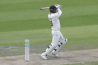 Jordan Clark hits 4 runs for Lancashire during Lancashire CCC vs Essex CCC, Specsavers County Championship Division 1 Cricket at Emirates Old Trafford on 9th June 2018