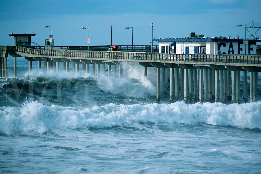 Warming of surface waters in the southeastern Pacific creates the phenomenon known as El Nino. It creates severe winter weather and large ocean swells,  California