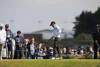 Paul Dunne (IRL) on the 2nd tee during Round 3 of the Betfred British Masters 2019 at Hillside Golf Club, Southport, Lancashire, England. 11/05/19<br /> <br /> Picture: Thos Caffrey / Golffile<br /> <br /> All photos usage must carry mandatory copyright credit (&copy; Golffile | Thos Caffrey