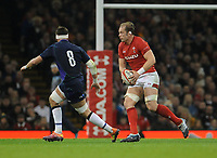 Wales' Alun Wyn Jones during the game<br /> <br /> Photographer Ian Cook/CameraSport<br /> <br /> Under Armour Series Autumn Internationals - Wales v Scotland - Saturday 3rd November 2018 - Principality Stadium - Cardiff<br /> <br /> World Copyright © 2018 CameraSport. All rights reserved. 43 Linden Ave. Countesthorpe. Leicester. England. LE8 5PG - Tel: +44 (0) 116 277 4147 - admin@camerasport.com - www.camerasport.com